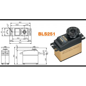 FUTABA BLS251 Brushless Digital Heli Rudder Servo
