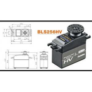 FUTABA BLS256HV Brushless High Speed High Voltage Servo