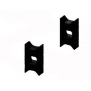 MIK4409E Logo 500/600 Carbon Tail Servo Holders