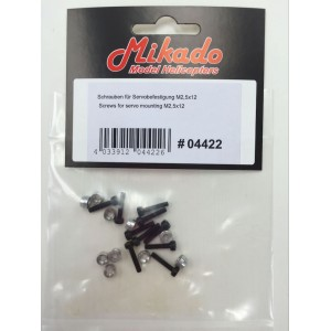 MIK4422 Mikado Screws for Servo Mounting M2.5x12 550SE/550SX