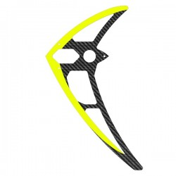 MIK5157  Vertical fin, carbon, neon-yellow, LOGO 700