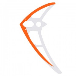 MIK5159  Vertical fin, carbon, orange-white, LOGO 700