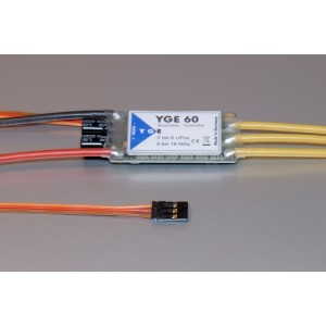 YGE 60 LV V5 VBAR READY and SPEED SENSE OUTPUT